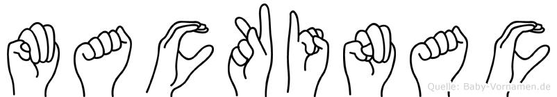 Mackinac im Fingeralphabet der Deutschen Gebärdensprache