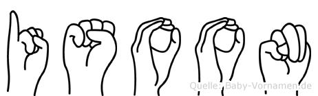 Isoon in Fingersprache für Gehörlose