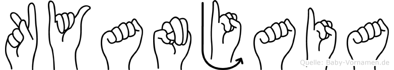 Kyanjaia im Fingeralphabet der Deutschen Gebärdensprache