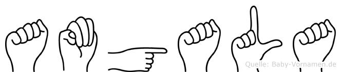 Amgala im Fingeralphabet der Deutschen Gebärdensprache