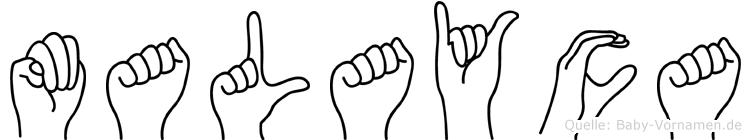 Malayca in Fingersprache für Gehörlose