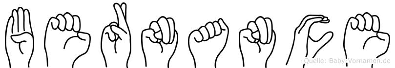 Bernance in Fingersprache für Gehörlose