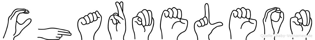 Charmeleon im Fingeralphabet der Deutschen Gebärdensprache