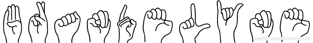 Brandelyne in Fingersprache für Gehörlose