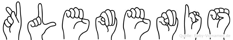 Klemenis in Fingersprache für Gehörlose
