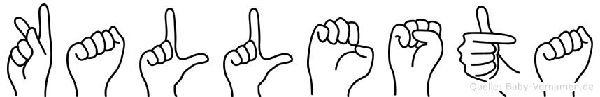 Kallesta in Fingersprache für Gehörlose