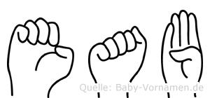 Eab in Fingersprache für Gehörlose