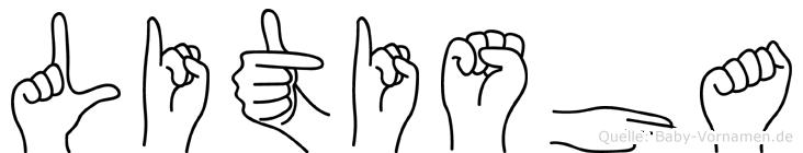 Litisha in Fingersprache für Gehörlose