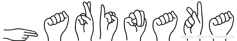Harinaka im Fingeralphabet der Deutschen Gebärdensprache