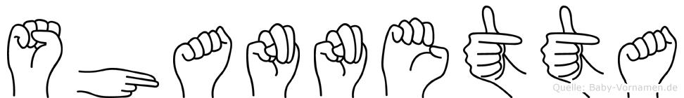 Shannetta in Fingersprache für Gehörlose