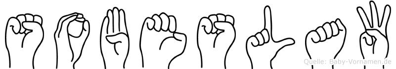 Sobeslaw im Fingeralphabet der Deutschen Gebärdensprache