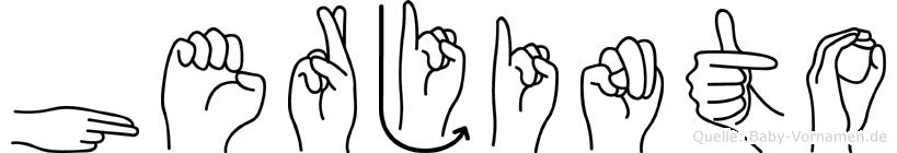 Herjinto in Fingersprache für Gehörlose