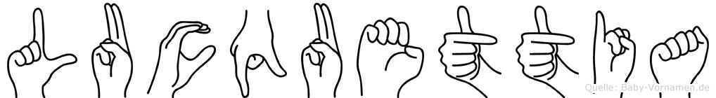 Lucquettia in Fingersprache für Gehörlose