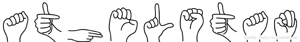 Athelstan im Fingeralphabet der Deutschen Gebärdensprache