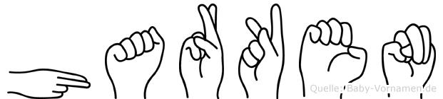 Harken im Fingeralphabet der Deutschen Gebärdensprache
