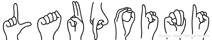 Laupoini im Fingeralphabet der Deutschen Gebärdensprache
