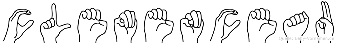 Clemenceau im Fingeralphabet der Deutschen Gebärdensprache