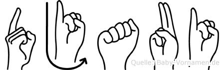 Djaui in Fingersprache für Gehörlose