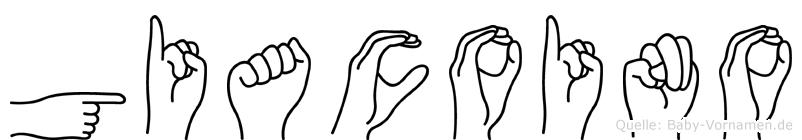 Giacoino in Fingersprache für Gehörlose