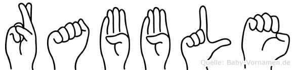 Rabble im Fingeralphabet der Deutschen Gebärdensprache