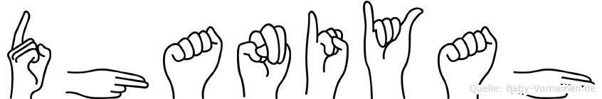 Dhaniyah in Fingersprache für Gehörlose