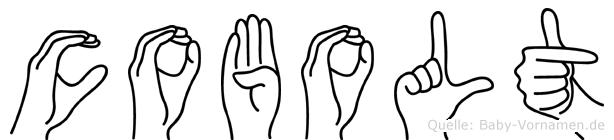 Cobolt im Fingeralphabet der Deutschen Gebärdensprache