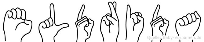 Eldrida im Fingeralphabet der Deutschen Gebärdensprache