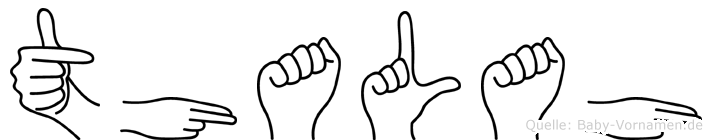 Thalah in Fingersprache für Gehörlose
