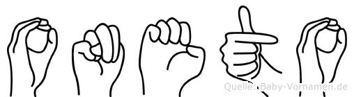 Oneto in Fingersprache für Gehörlose