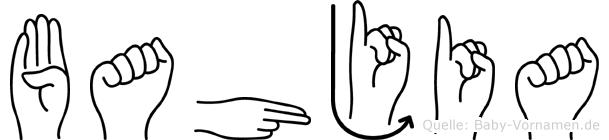 Bahjia in Fingersprache für Gehörlose