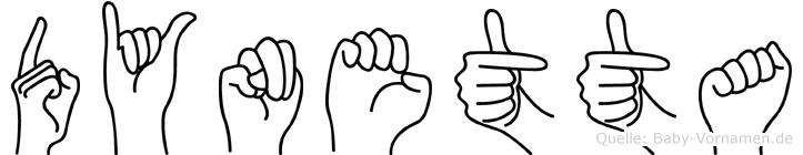 Dynetta in Fingersprache für Gehörlose