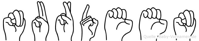 Nurdeen in Fingersprache für Gehörlose