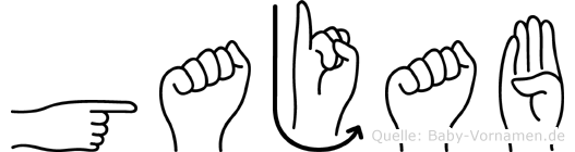 Gajab in Fingersprache f�r Geh�rlose