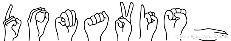 Domavish in Fingersprache für Gehörlose