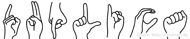 Duplica in Fingersprache für Gehörlose