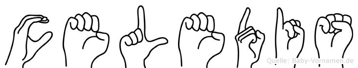 Celedis im Fingeralphabet der Deutschen Gebärdensprache