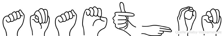 Amaethon in Fingersprache für Gehörlose