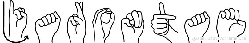 Jarontae im Fingeralphabet der Deutschen Gebärdensprache