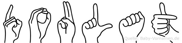 Doulat im Fingeralphabet der Deutschen Gebärdensprache