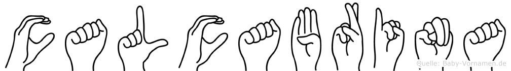 Calcabrina in Fingersprache für Gehörlose