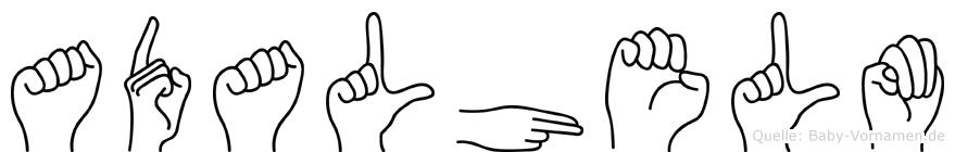 Adalhelm in Fingersprache für Gehörlose