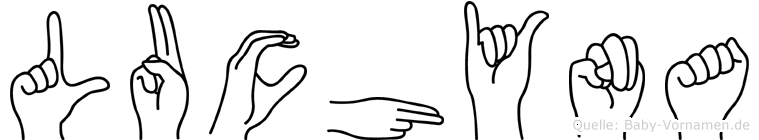 Luchyna im Fingeralphabet der Deutschen Gebärdensprache