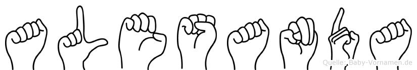 Alesanda in Fingersprache für Gehörlose