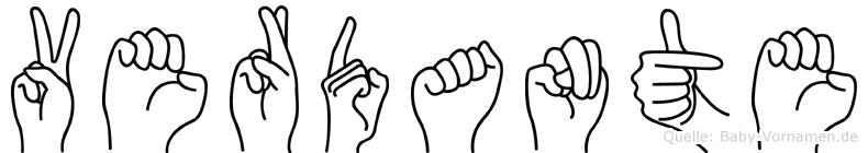 Verdante im Fingeralphabet der Deutschen Gebärdensprache