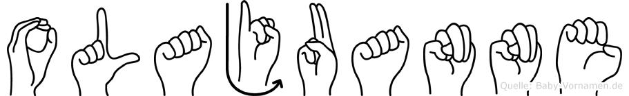 Olajuanne im Fingeralphabet der Deutschen Gebärdensprache