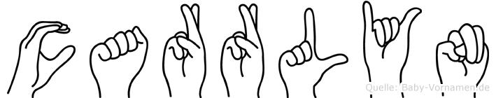Carrlyn im Fingeralphabet der Deutschen Gebärdensprache
