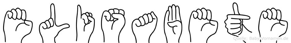 Elisabete in Fingersprache für Gehörlose