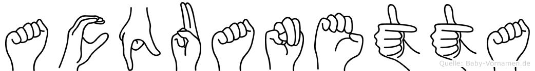 Acquanetta in Fingersprache für Gehörlose