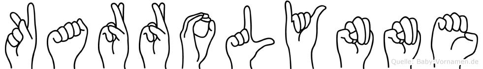 Karrolynne im Fingeralphabet der Deutschen Gebärdensprache