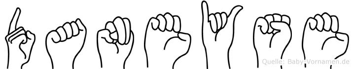 Daneyse im Fingeralphabet der Deutschen Gebärdensprache